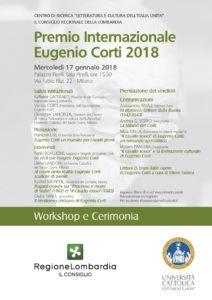 Locandina della premiazione del Premio Internazionale Eugenio Corti 2018