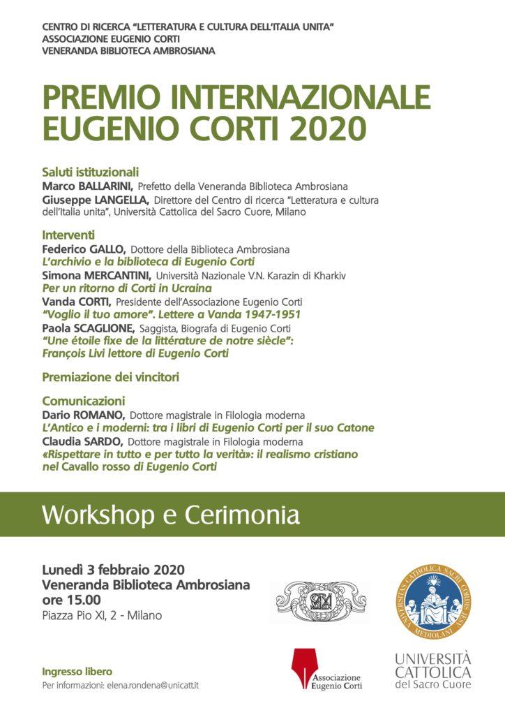 Premio Eugenio Corti 2020